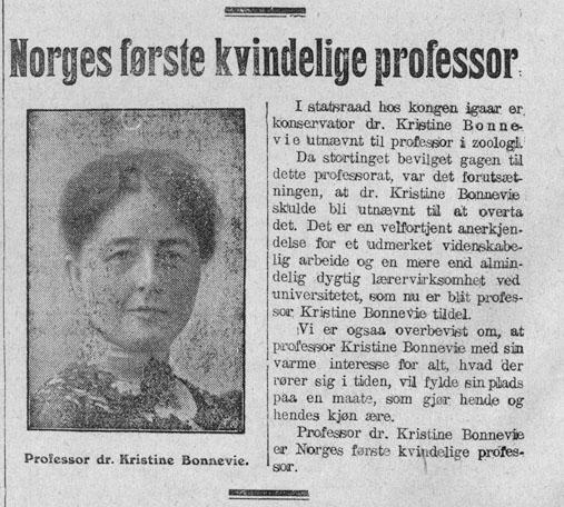 første kvinne på stortinget