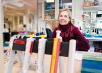 UNDISCOVERED NICHE: Professor Johanna Olweus has found a completely new method of using the immune system to attack cancer. Photo: Yngve Vogt