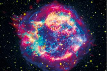 SUPERNOVA EXPLOSION: Today astrophysicists are struggling to perform computer simulations of a supernova (a massive star explosion). New knowledge about atomic nuclei from the University of Oslo may make such simulations easier. Photo: NASA